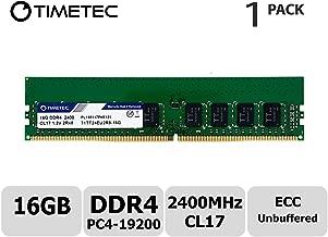 Timetec Hynix IC 16GB DDR4 2400MHz PC4-19200 Unbuffered ECC 1.2V CL17 2Rx8 Dual Rank 288 Pin UDIMM Server Memory RAM Module Upgrade (16GB)