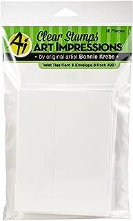 Art Impressions 4983 Twist Ties Cards & Envelopes (8 per Pack), Multicolor