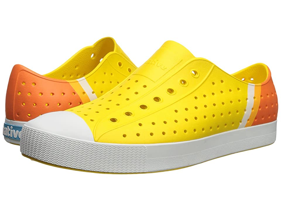 Native Shoes Jefferson (Crayon Yellow/Shell White/Gradient Block) Shoes