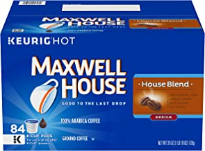 MAXWELL HOUSE House Blend Keurig K-Cup Coffee Pods (84 Count Value Pack) | 100% Arabica Beans | Delightful & Lively Roast | Kosher Certified