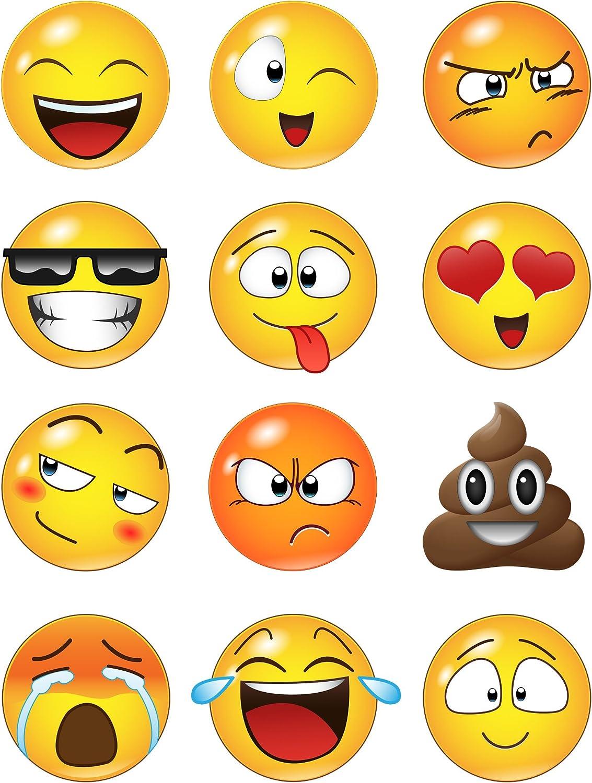 上質 Emoticon Smiling 新発売 Faces Wall Decal inch Stickers. Emoti #6052 12
