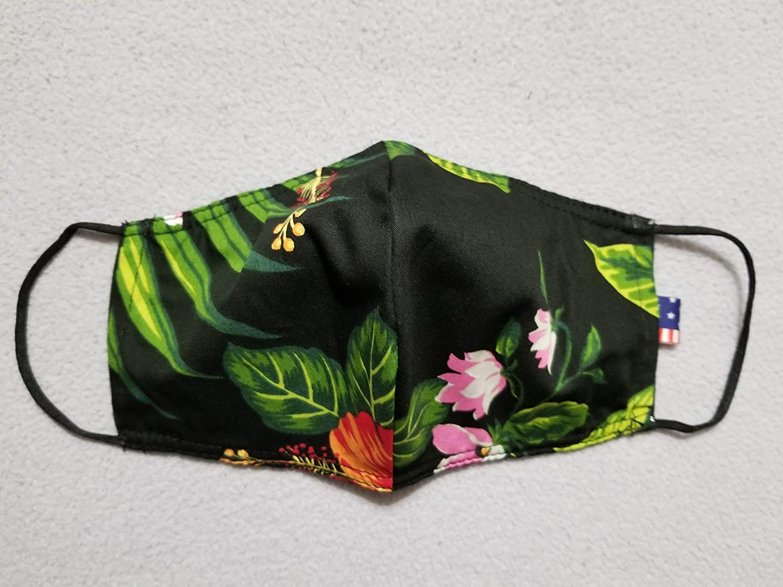 Men Women Two Layer Reversible M Regular store Hawaiian Face Max 44% OFF Washable Reusable