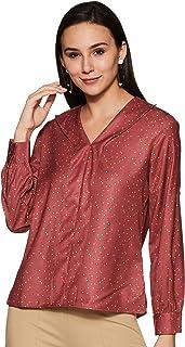 Amazon Brand - Symbol Women's Polka dot Regular fit Shirt