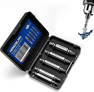 Prime Day NINDEJIN Juego de extractor de tornillos Quite fácilmente los dañados de 5 piezas para quitar todo tipo de tornillos
