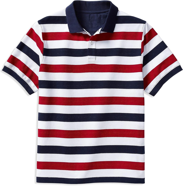 Harbor Bay by DXL Big and Tall Multi Stripe Polo Shirt, Blue Multi, XTall