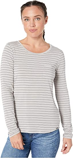 Light Grey Heather Stripe