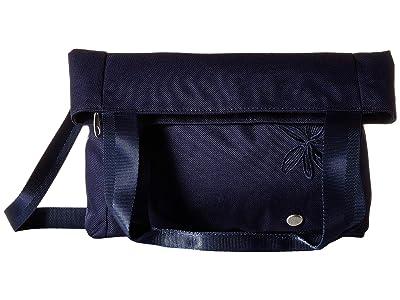 Haiku Lyric Fold-Over Tote (Midnight) Tote Handbags