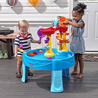Step 2 Archway Rain Showers Splash Pond Water Table, Kids Water Play Table with 13-Pc Accessory Set, 18 months, Holds up t...