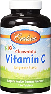 Carlson Labs Carlson For Kids Chewable Vitamin C, 250mg, 120 Tablets