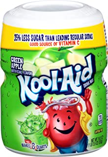 Kool Aid Energy Drink Green Apple Drink Mix (19.5 oz Canister, Pack of 12)