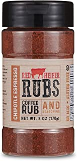 Red Heifer All-Purpose Coffee Rub Aromatic Seasoning Blend, Certified Kosher (Chipotle Espresso)