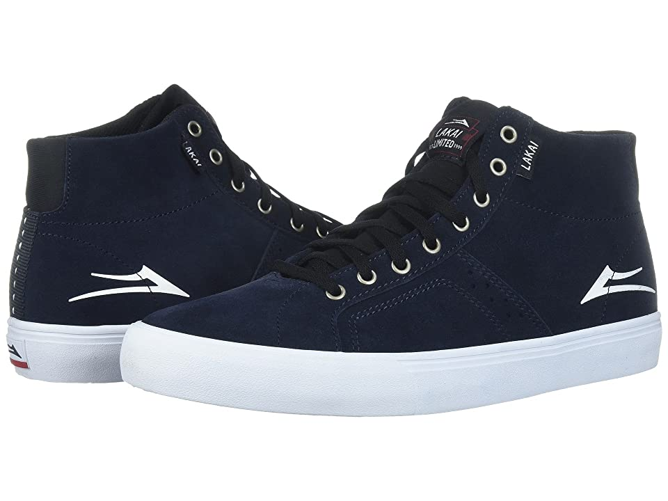 Lakai Flaco High (Navy/White Suede) Men