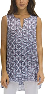 Fever Womens Double Layer Sleeveless Blouse