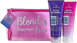 Lee Stafford Bleach Blondes Toning Shampoo & Conditioner Wash Bag Gift Set
