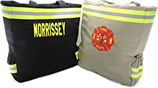 Firefighter Diaper Bag, Option to Personalize bag, New Baby Gift