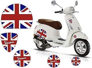 Adesivi Stickers Moto - VESPA - BANDIERA - REGNO UNITO INGHILTERRA - Casco Cerchi Scudetto Logo Kit Piaggio Fiancate Scocc...