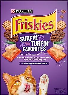 Purina Friskies Surfin' & Turfin' Favourites Cat Dry Food, 459g