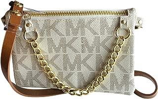 Michael Kors MK Signature Fanny Pack Belt Bag Vanilla Small