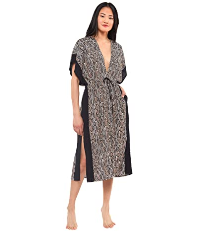 Jessica Simpson Snake Chamber Long Border Cover-Up