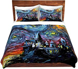 Duvet Cover Brushed Twill Twin, Queen, King Sets DiaNoche Designs Aja Ann - Van Gogh Hogwarts