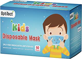 Optitect Disposable Kids Face Mask 3 Ply with Ear-Loop, 50 Pieces