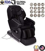 Nirvana 3D Massage Chair - Black (2019 Model) - Professional Relax shiatsu Armchair with 9 Programs - Zero Gravity, Magnetic, ionizer and Heating System - 2 Years Official Warranty GLOBAL RELAX US