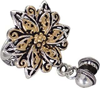 Sansar India Ring for Women (Silver) (1296)