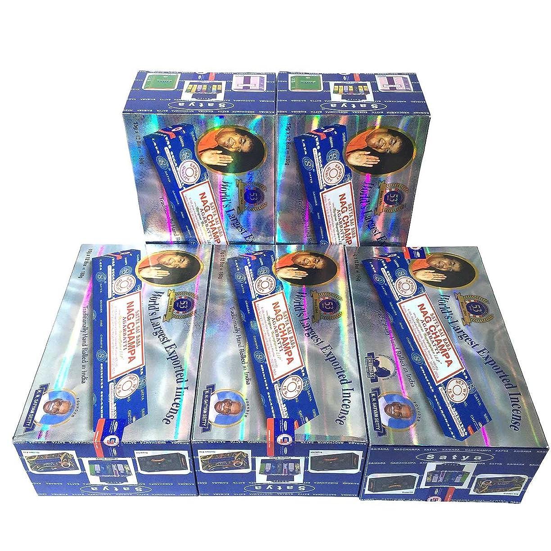 神経衰弱情熱的品種サイババ ナグチャンパ香スティック 5BOX(30箱)/SATYA SAI BABA NAG CHAMPA/インド香 / 送料無料 [並行輸入品]