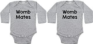 Twin Set Womb Mates Sleeve Infant Bodysuit
