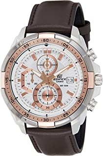 Casio Men's Dial Leather Band Watch - EFR-539L-7AVUDF