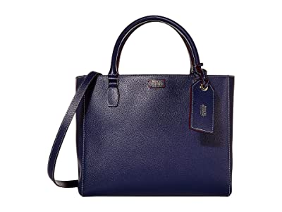 Frances Valentine Olivia Double Handle Tote (Royal) Handbags