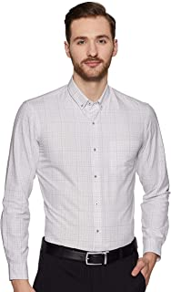 Arrow New York Men's Checkered Slim fit Formal Shirt