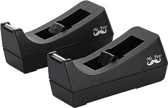 Mr. Pen- Tape Dispenser, Pack of 2, Tape Dispenser Desk, Office Supplies, Desk Supplies, Tape Holder, Tape Dispensers, Black Tape Dispenser, Desktop Tape Dispenser, Tape Desk Dispenser, Organier