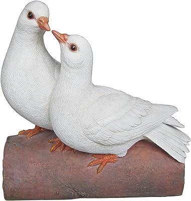 Hi-Line Gift Ltd Two Doves on Log Figurine