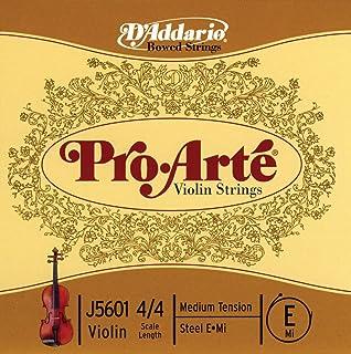 D'Addario Pro-Arte Violin Single E String, 4/4 Scale, Medium Tension