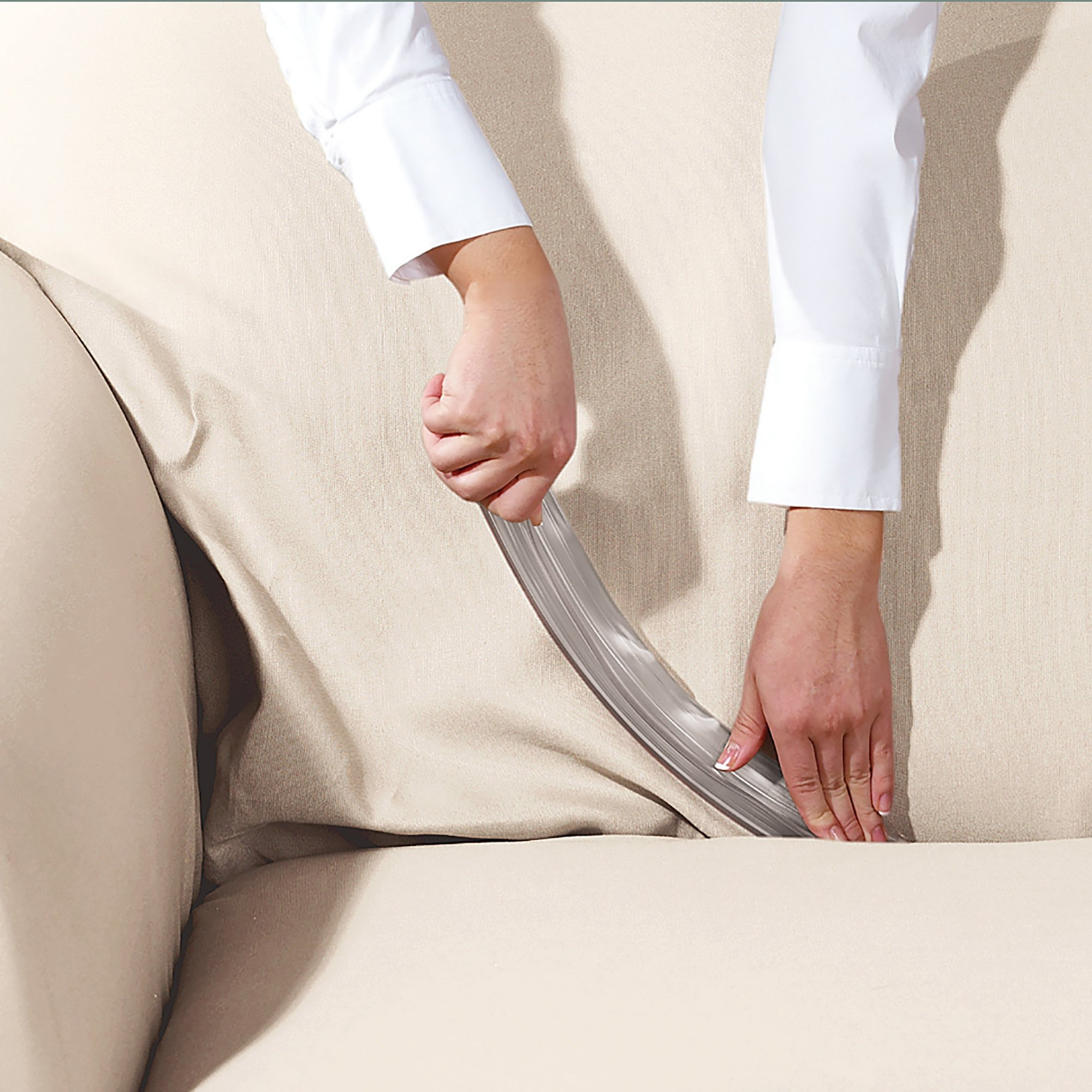 PVC Clear  hold your slipcover Tuck Tight Details about  /SureFit Sofa Slipcover Grip Strips