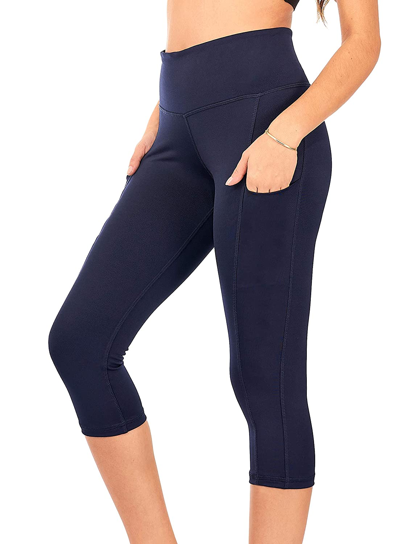 capri legging yoga style abstract gator print Emmy Water Yoga Capri Legging with Wide Fold-over waist band yoga legging