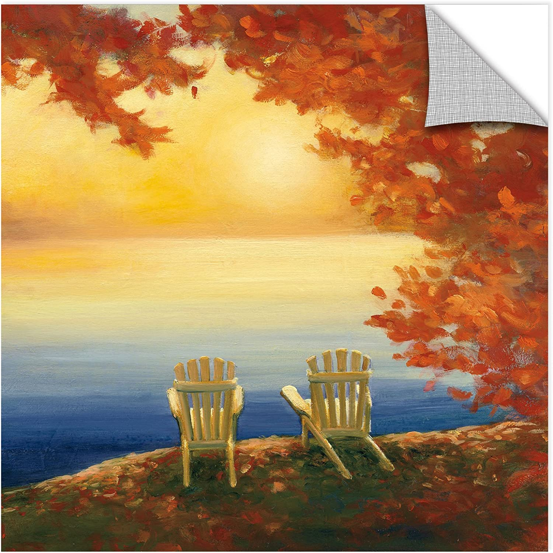 ArtWall 2pur015a1818p Julia Purinton's Autumn Glow II, Removable Wall Art Mural 18x18