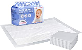 Set of 54 Disposable Baby Changing Pads - Velvet Soft, Extra-Absorbent for Comfort, Safety, and Protection - Multi Use Cha...