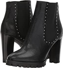 The Kooples - Reptile-Effect Leather Boots with Studs