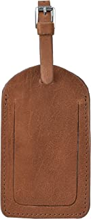 Personalized Leather Luggage Tag - Caramel