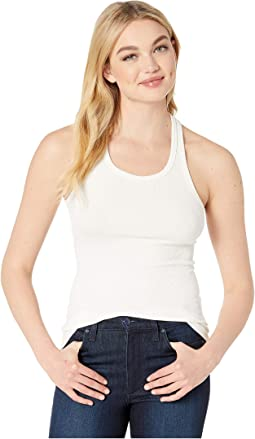 Essential Ribbed Racer Tank