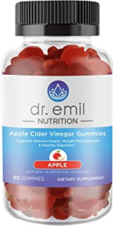Dr. Emil Nutrition Apple Cider Vinegar Gummy Vitamin for Immunity, Detox, Digestion and Weight Management - Vegan Gummy wi...
