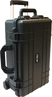 IBEX Cases - Black Watertight Carry On Hard Rugged Protective Case with Wheels and Handle for Electronics, Equipment, Cameras, Tools, Drones, and More (IC-1800BKW)