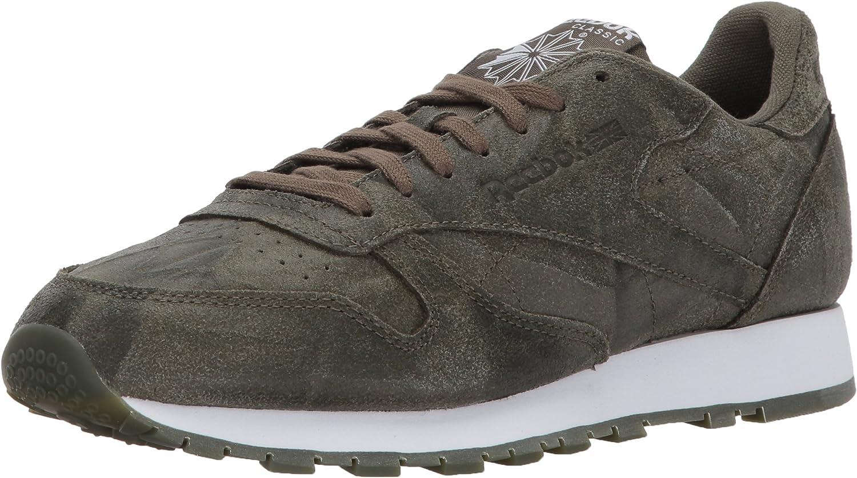 Reebok herrar CL läder Cte Mode skor, Army grön    vit, 7.5 M USA  bästa priser och färskaste stilar