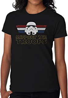 BBT Womens Star Wars Support The Troops Stormtrooper T-Shirt