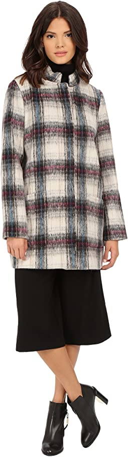 Novelty Plaid Wool Coat
