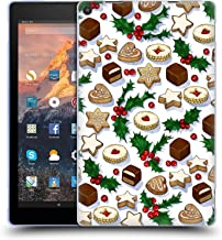 Official Micklyn Le Feuvre Christmas Treats and Cookies Holiday Patterns Soft Gel Case Compatible for Amazon Fire HD 10 (2017)
