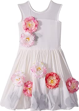 fiveloaves twofish Flowers For Me Party Dress (Little Kids/Big Kids)