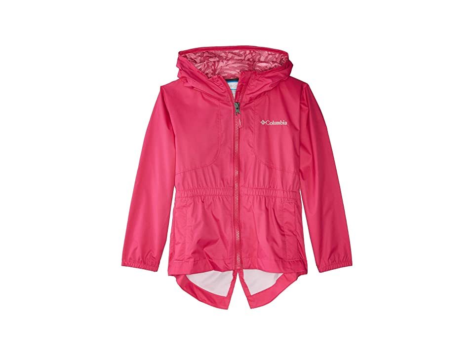 Columbia Kids Dolliatm Rain Jacket (Little Kids/Big Kids) (Haute Pink/Haute Pink/Palms Print) Girl